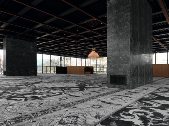 Rudolf Stingel / Exhibition view, Neue Nationalgalerie, Berlin / 2011