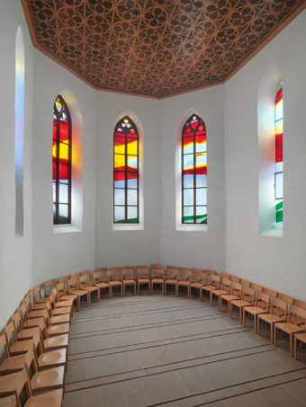 Claudia und Julia Müller / Church windows, installation view, Kirche Pratteln / 2012