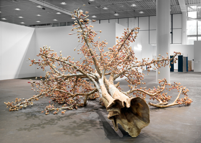"Bharti Kher / ""The Wag Tree"", installation view, Hauser & Wirth, Art Unlimited 2009"