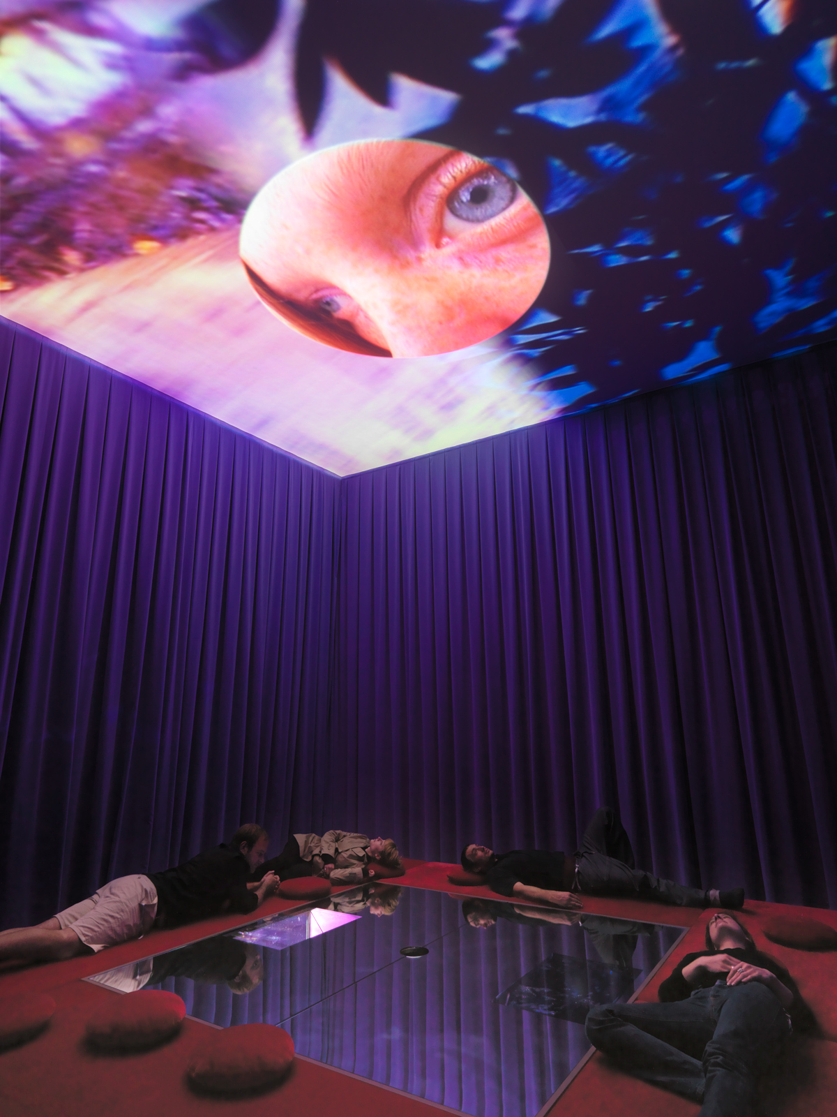 "Pipilotti Rist,  / ""A Liberty Statue for Löndön"", installation view, Art Unlimited 2008  / 2008"