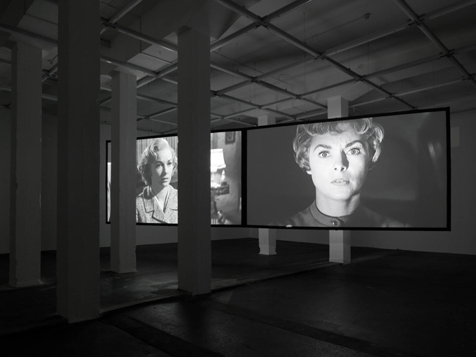 "Douglas Gordon / ""24 Hour Psycho Back and Forth and To and Fro"", exhibition view, Galerie Eva Presenhuber, Zürich"