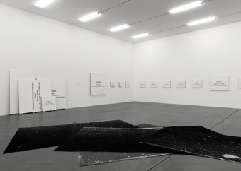 "Mario Garcia Torres / ""Some Stories that Went Missing, Others that I Belong to, and a Few Studio Works"", exhibition view, Kunsthalle Zürich / 2008"
