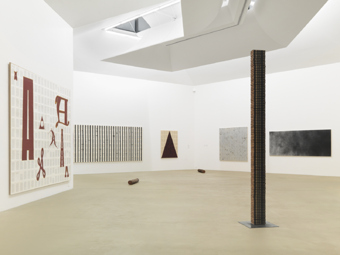 "Tim Rollins and K.O.S. / ""On Transfiguration"", exhibition view, Museum für Gegenwartskunst Basel  / 2012"
