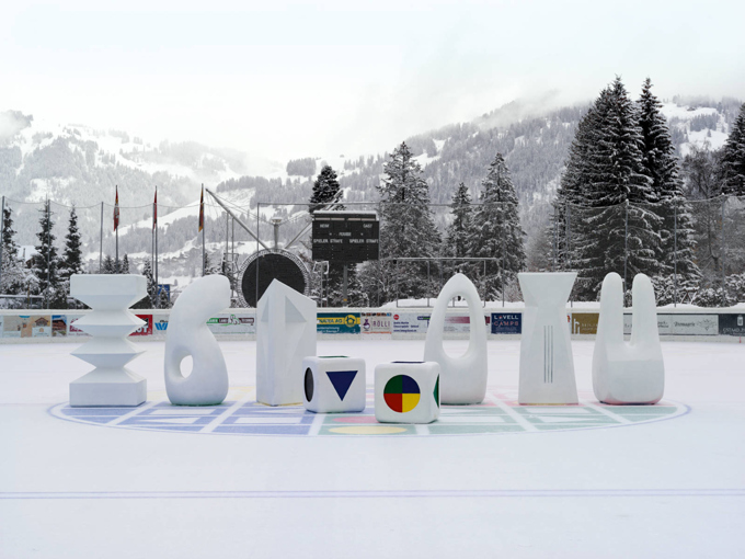 "Claudia Comte / ""Elevation1049"", exhibition view, Gstaad / 2014"