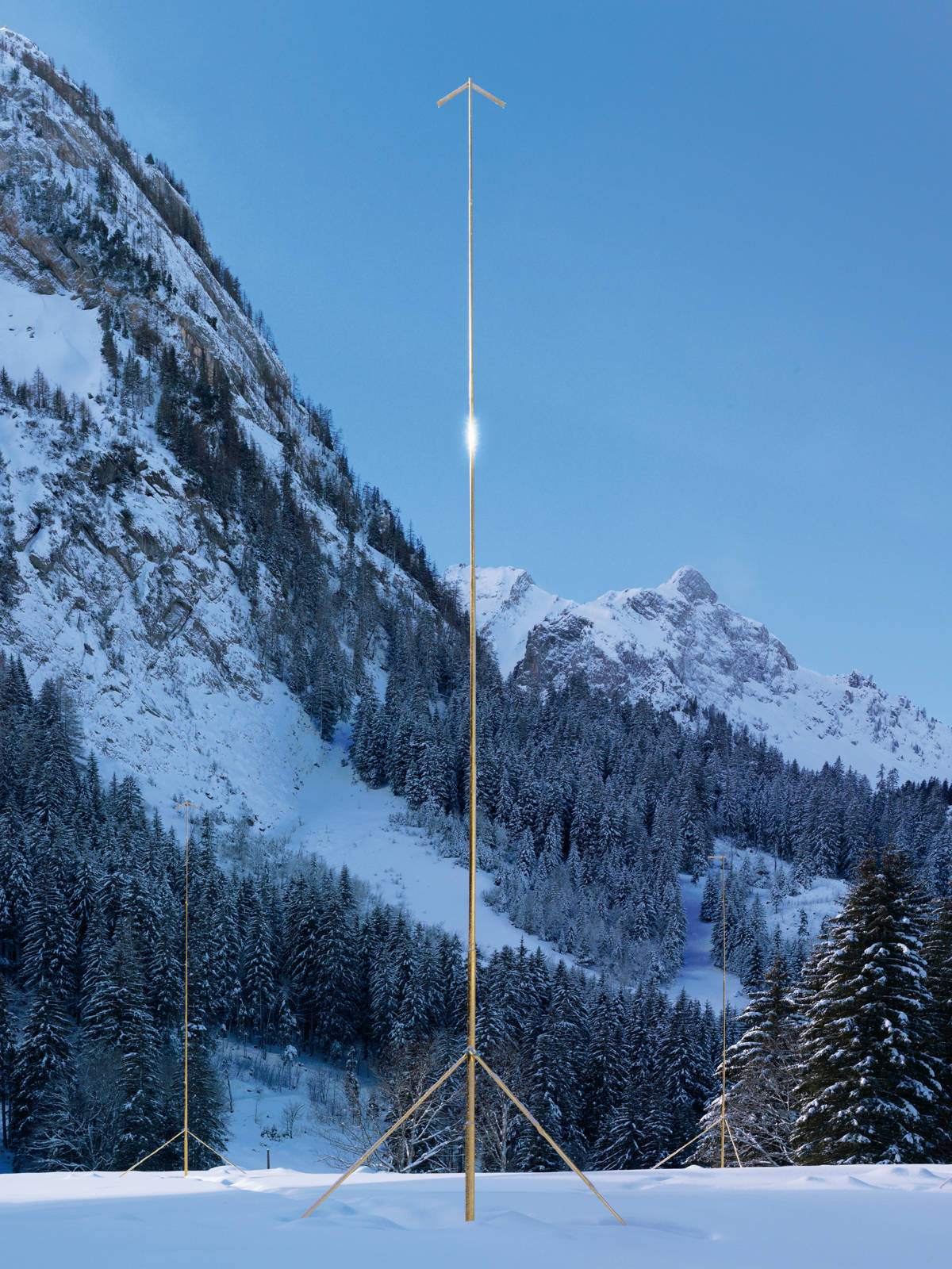 "Olympia Scarry / ""Elevation1049"", exhibition view, Gstaad / 2014"