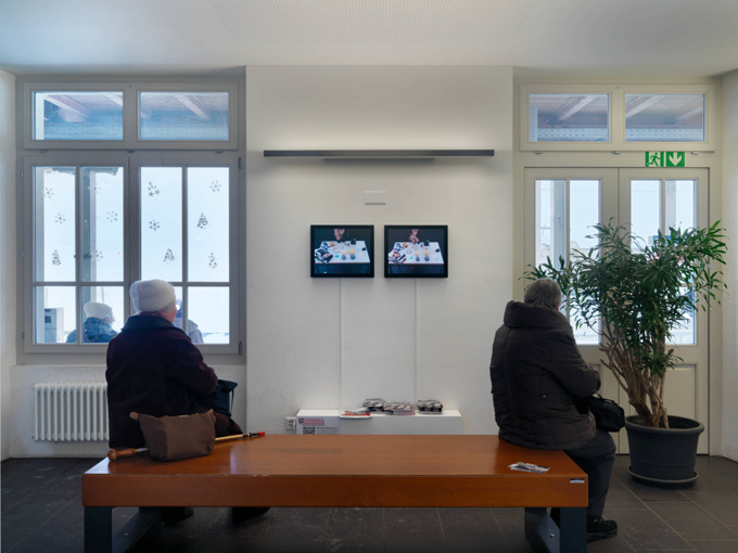 "Alexandra Bachzetsis / ""Elevation1049"", exhibition view, Gstaad / 2014"