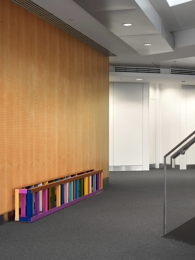 Liam Gillik / Art at Swiss Re, installation view, London / 2014