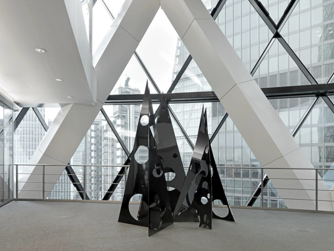 Eva Rothschild / Art at Swiss Re, installation view, London / 2014