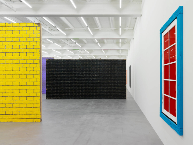 "Ugo Rondinone / ""walls + windows + doors"", exhibition view, Galerie Eva Presenhuber, Zürich / 2015"