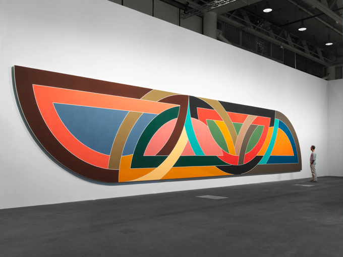 Frank Stella / Installation view, Dominique Lévy Gallery, Art Unlimited Basel / 2016