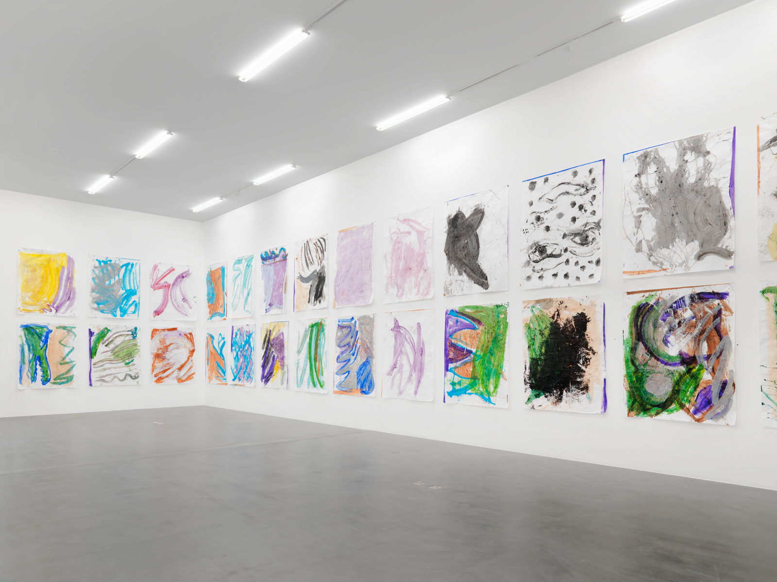 Josh Smith / Exhibition view, Kunsthalle Zürich / 2010