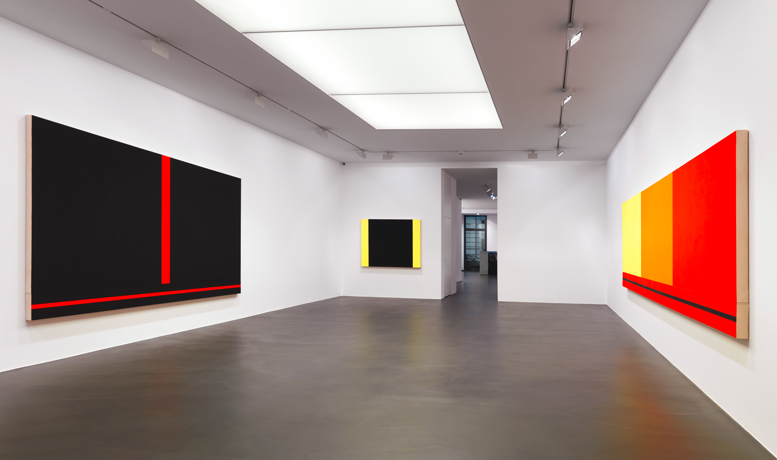 "Peter Halley / ""Works from the 80's"", exhibition view, Galerie Andrea Caratsch, Zürich / 2010"